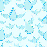 Seamless winged drops Stock Images