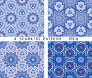Seamless winter abstract pattern. Vector set of 4. Royalty Free Stock Images