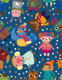 Seamless winter animal pattern Royalty Free Stock Photo
