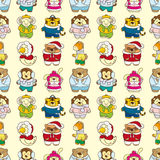 Seamless winter animal pattern Stock Photos