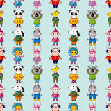 Seamless winter animal pattern Royalty Free Stock Photos