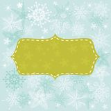 Seamless winter background with banner Royalty Free Stock Photography