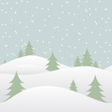Seamless winter background with falling snow Royalty Free Stock Image