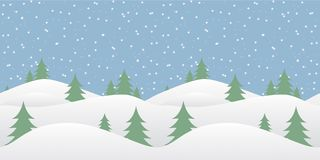 Seamless winter background with falling snow Stock Photo