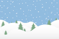 Seamless winter background with falling snow Stock Image