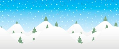 Seamless winter background with falling snow Royalty Free Stock Photos