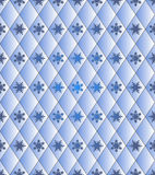 Seamless winter background - rhombus with snowflakes. Color blue. Vector 3D illustrations royalty free illustration