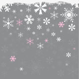 Seamless winter background with snowflakes Royalty Free Stock Photography