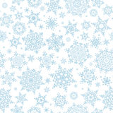 Seamless winter background with snowflakes. EPS 10 Stock Image