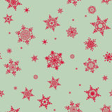 Seamless winter background with snowflakes. EPS 10 Stock Photography