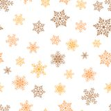 Seamless winter background with snowflakes. Holiday Christmas pattern. Royalty Free Stock Image