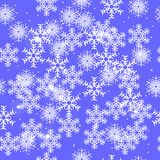 Seamless winter background with snowflakes Royalty Free Stock Images
