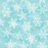 Seamless winter background with snowflakes. Vector Royalty Free Stock Photography