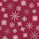 Seamless winter background with snowflakes Stock Images