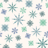 Seamless winter background with snowflakes Stock Image