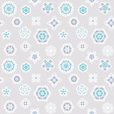 Seamless winter background with snowflakes Stock Photography