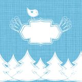 Seamless winter background in vector Royalty Free Stock Images