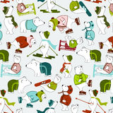 Holiday Background Pattern - Winter Bears Stock Image