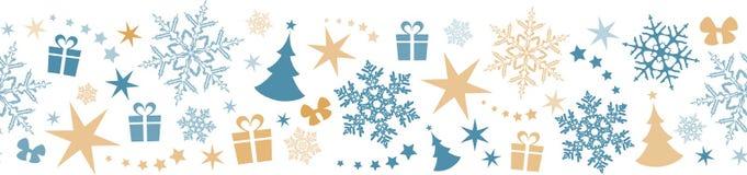 Seamless winter, Christmas border Royalty Free Stock Photos