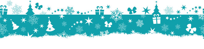 Seamless winter, Christmas border Stock Photo
