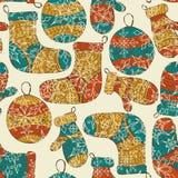 Seamless Winter Christmas Pattern Stock Image