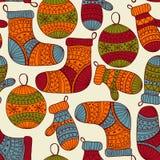 Seamless Winter Christmas Pattern Stock Photos