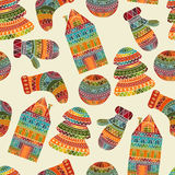 Seamless Winter Christmas Pattern Royalty Free Stock Photography