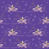 Seamless winter floral flower texture Royalty Free Stock Photo