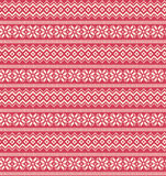 Seamless Winter Holidays Nordic Ornament Pattern  on Pin Royalty Free Stock Photos