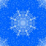 Seamless with winter lace snowflake motiv Royalty Free Stock Photos