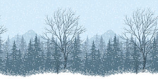 Seamless winter landscape Stock Images