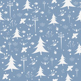 Seamless Winter/Merry Christmas Pattern Stock Images