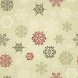 Seamless Winter Pattern Stock Photography