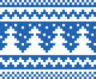 Seamless winter pattern (blue) Royalty Free Stock Photos