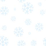 Seamless winter pattern with blue snowflakes Stock Photo