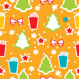 Seamless winter pattern, Christmas Stock Image