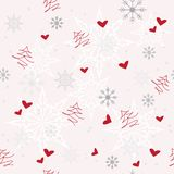 Seamless winter pattern. With Christmas elements Stock Images