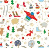 Seamless winter pattern Royalty Free Stock Photos