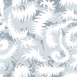 Seamless winter pattern with frozen curls. Stock Images