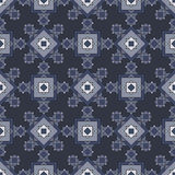 Seamless winter pattern with geometric snowflakes. Royalty Free Stock Image