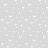 Seamless winter pattern with hand painted snowflakes Royalty Free Stock Photos