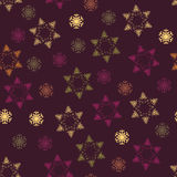 Seamless winter pattern on paper texture. Royalty Free Stock Photography