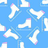 Seamless winter pattern with skates Royalty Free Stock Photography