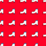 Seamless winter pattern with skates Stock Image