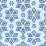 Seamless winter pattern of snowflakes in the bohemian style royalty free illustration