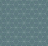 Seamless winter pattern with snowflakes. Flat ornament in vintage colors. Stock Image