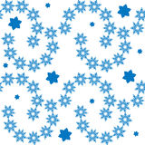Seamless winter pattern with snowflakes Royalty Free Stock Image