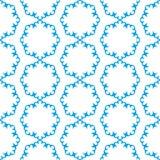 Seamless winter pattern with snowflakes Stock Photos