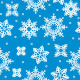 Seamless winter pattern with snowflakes Royalty Free Stock Photography