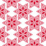 Seamless winter pattern with snowflakes Stock Image